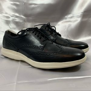 Cole Haan Grand Tour Wingtip Oxford Black Ivory
